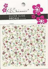 Delicate Floral Water Slide Decal