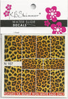 Leopard Print Water Slide Decal