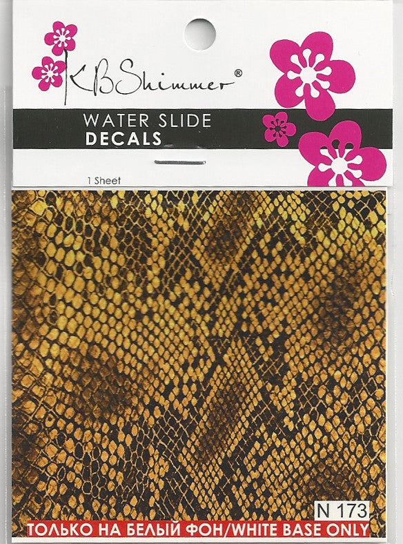 Snakeskin Print Water Slide Decal