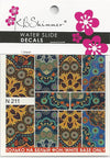 Boho Floral Water Slide Decal