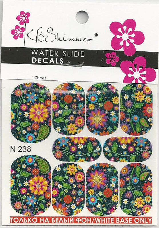 Mod Floral Water Slide Decal