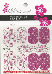 Cherry Blossom Water Slide Decal