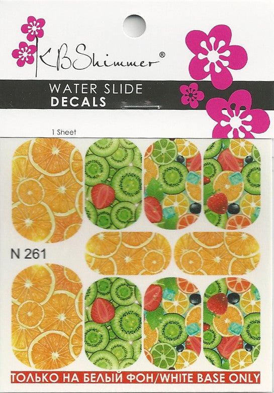 Citrus Print Water Slide Decal