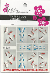 3D Butterflies Water Slide Decal