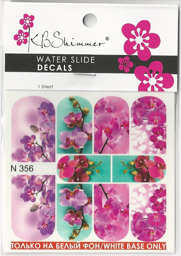 Orchid Water Slide Decal