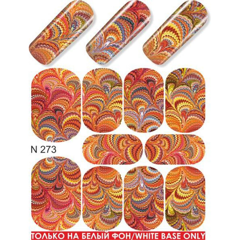 Autumn Swirls Water Slide Decal