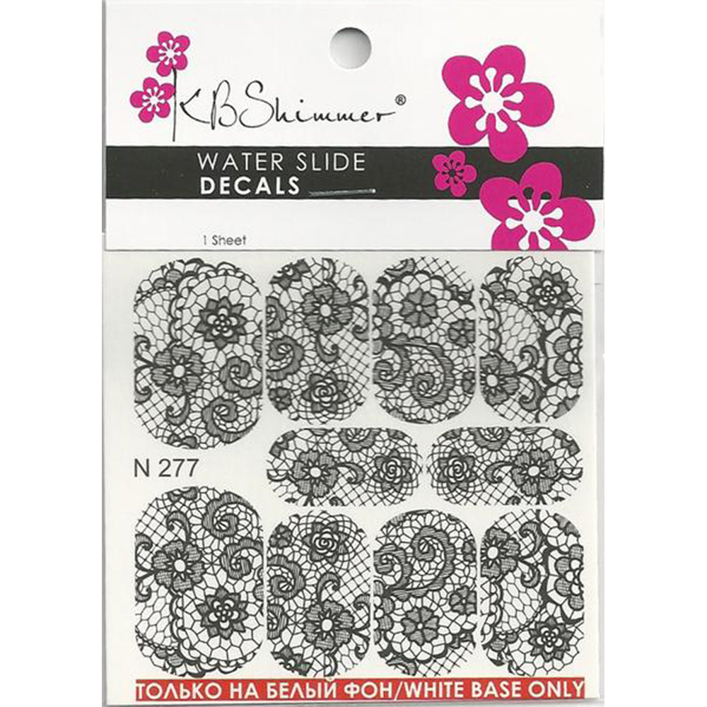 Lace Water Slide Decal