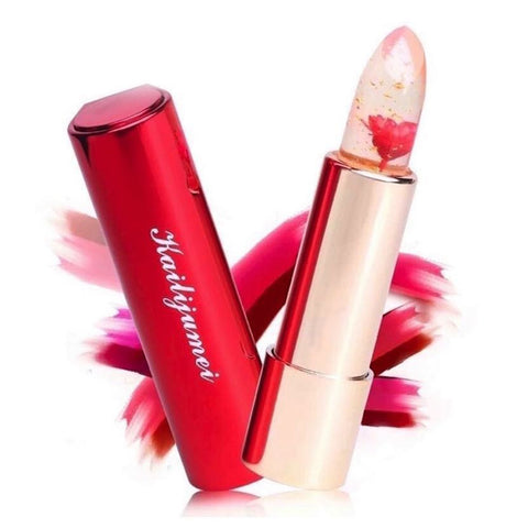 Flame Red Jelly Flower Lipstick