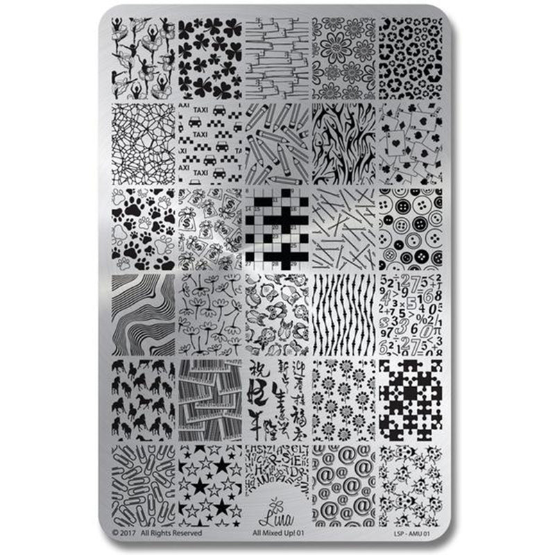 Lina Nail Art Supplies All Mixed Up 01 stamping plate