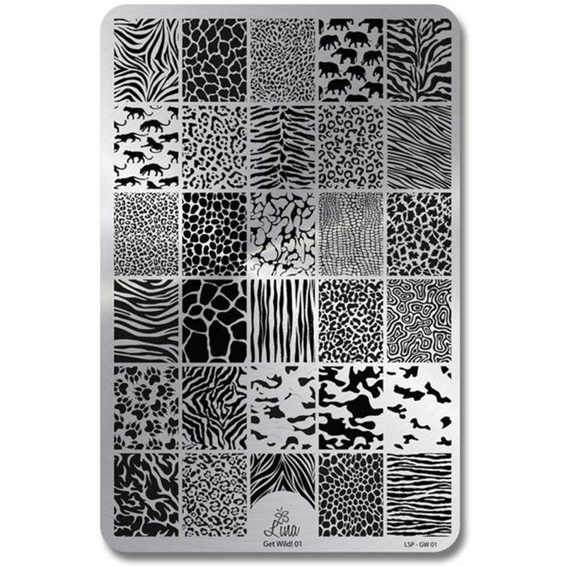 Lina Nail Art Supplies Get Wild 01 stamping plate