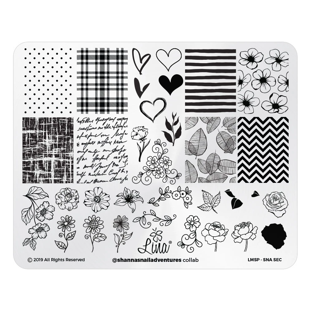 Lina Nail Art Supplies Collaboration Plate - @shannasnailadventures
