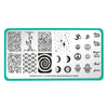 Maniology Artist Collaboration x justagirlandhernails stamping plate M005