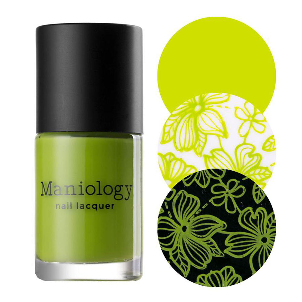 Maniology Lime Pine stamping nail polish Jingle Bell Rock Collection