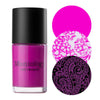 Maniology Prancing Pink stamping nail polish Jingle Bell Rock Collection