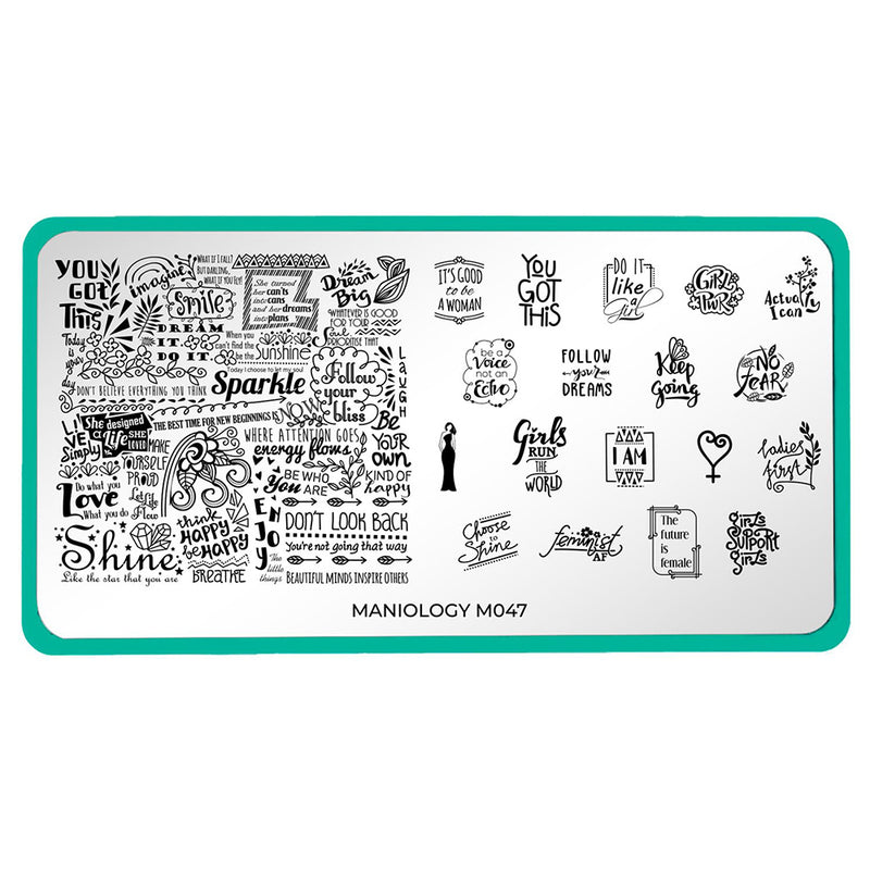 Maniology Women's Empowerment - Future is Female Stamping Plate M047