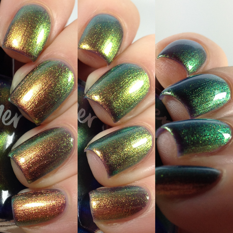 KBShimmer Mermaid in the Shade multichrome nail polish swatch Beach Break Collection