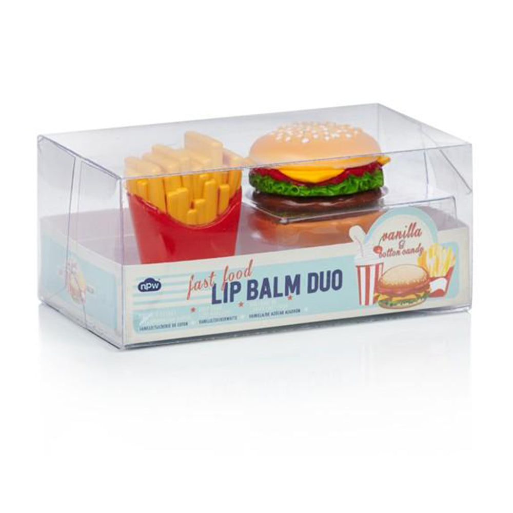 Burger & Fries Lip Balm Duo