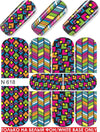 Neon Geometric Design Water Slide Decal