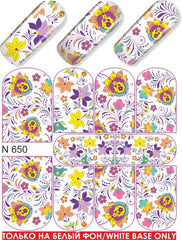 Spring Floral Design Water Slide Decal