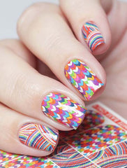 Knitted Nails Water Slide Decal