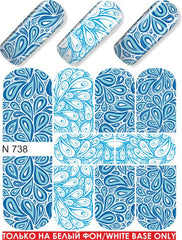 Blue Teardrops Water Slide Decal