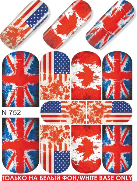Patriotic Water Slide Decal