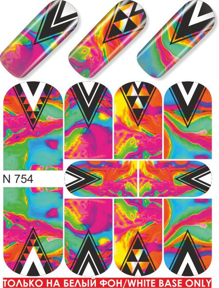 Neon Triangles Water Slide Decal