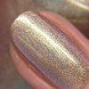 KBShimmer Lovers Coral holographic shimmer nail polish swatch Beach Break Collection