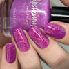 KBShimmer Where My Beaches At? orchid to pale pink thermal flakie nail polish swatch Beach Break Collection