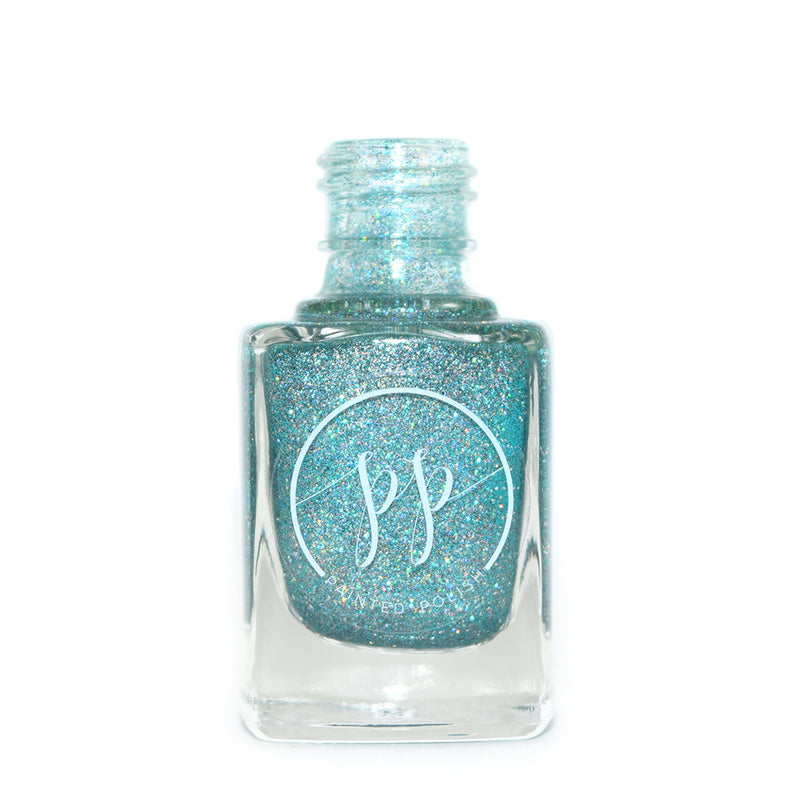 Painted Polish Anchor's Away teal holographic glitter nail polish