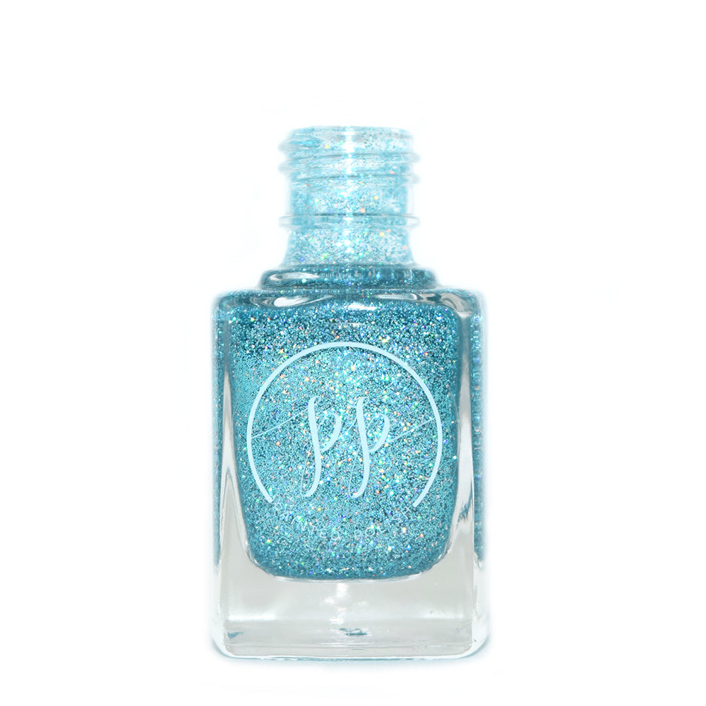 Painted Polish Saltwater Summer light blue holographic glitter nail polish