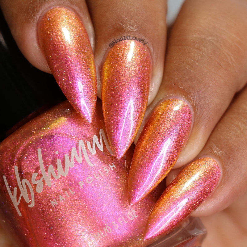 KBShimmer Stay Toasty My Friends rose copper multichrome nail polish