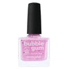Picture Polish Bubble Gum pink crelly nail polish with purple and white glitter