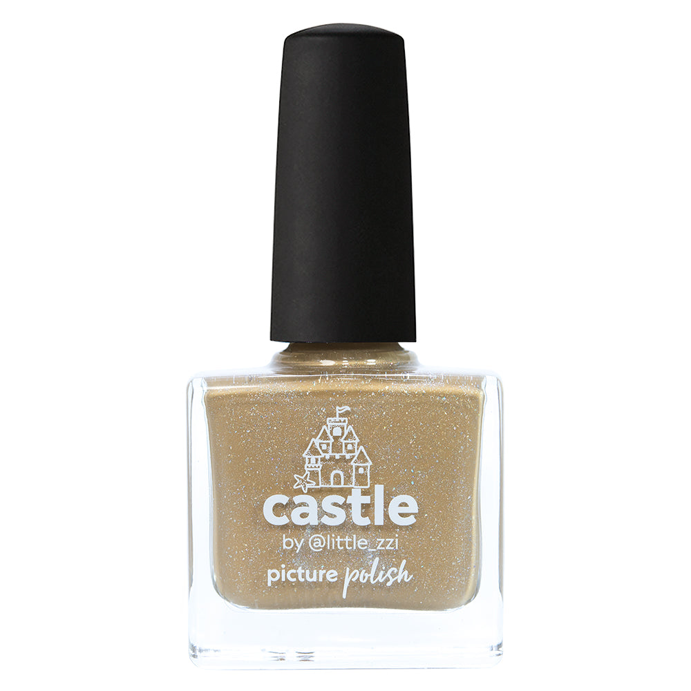 Picture Polish Castle sand yellow holographic nail polish