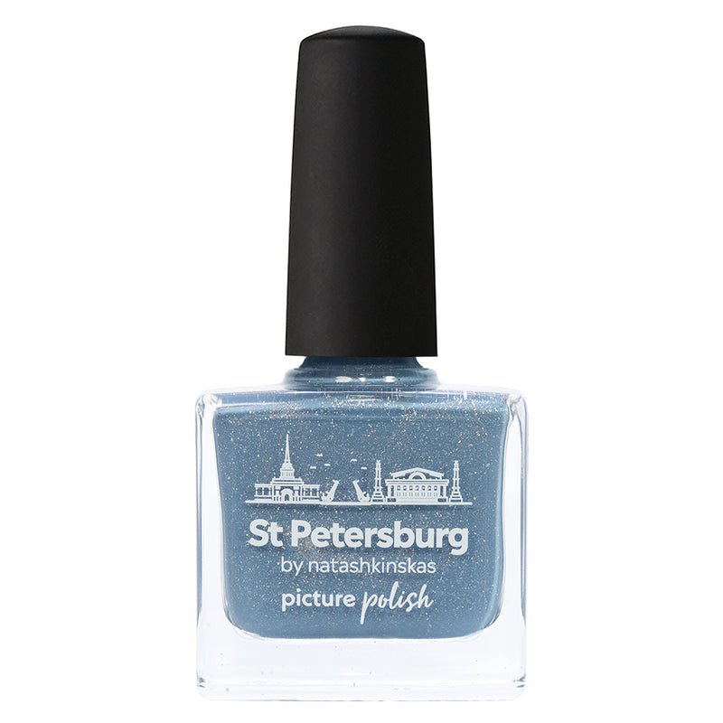 Picture Polish St Petersburg pewter blue holographic nail polish