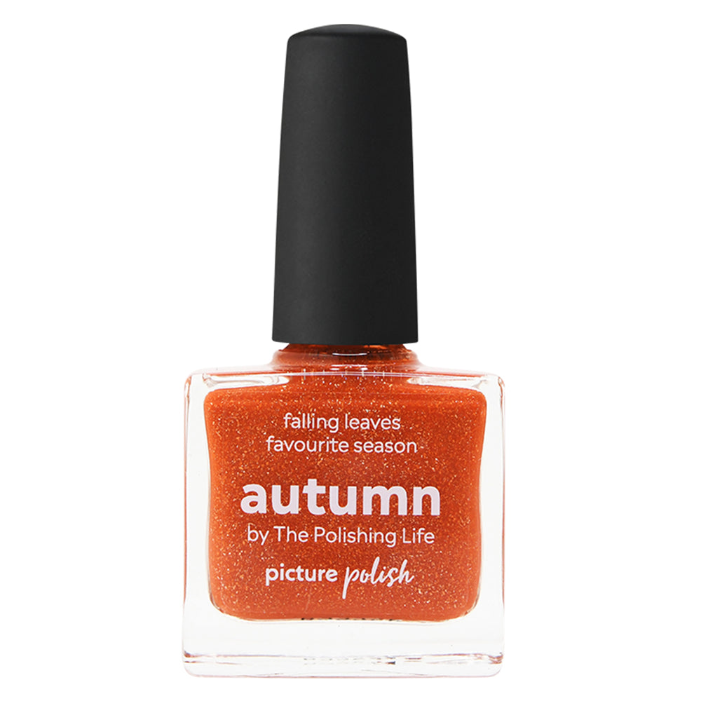 Picture Polish Autumn orange holographic nail polish