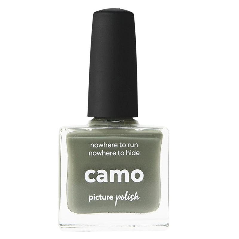Picture Polish Camo green khaki creme nail polish