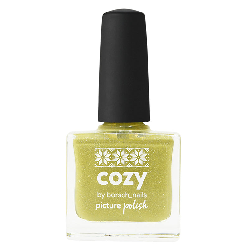 Picture Polish Cozy olive mustard holographic nail polish