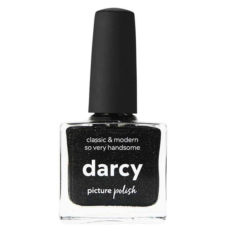 Picture Polish Darcy black holographic nail polish