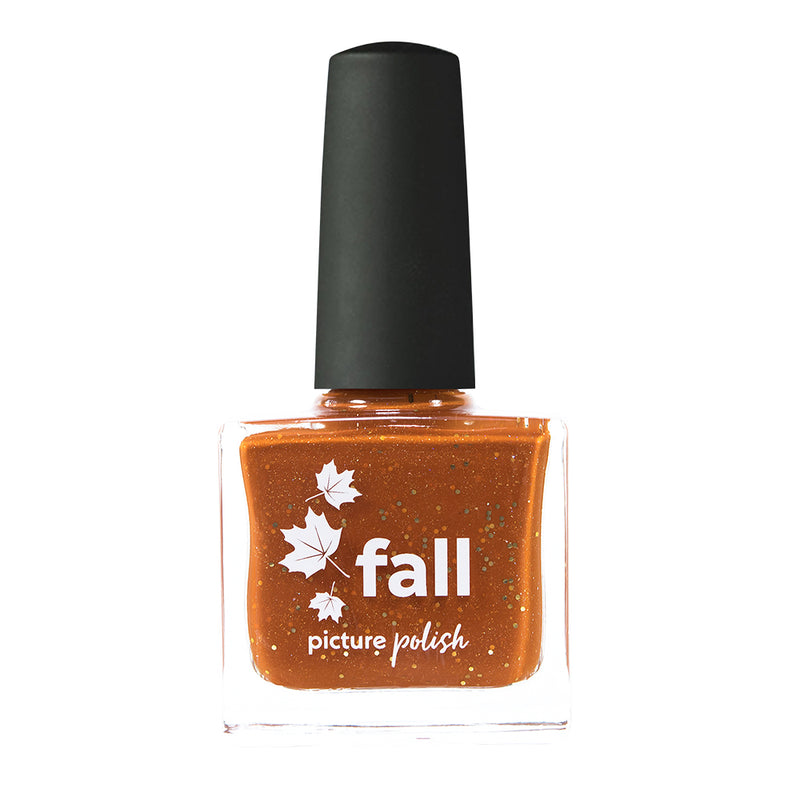 Picture Polish Fall burnt orange holographic nail polish