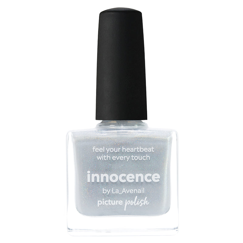 Picture Polish Innocence frosty white holographic nail polish