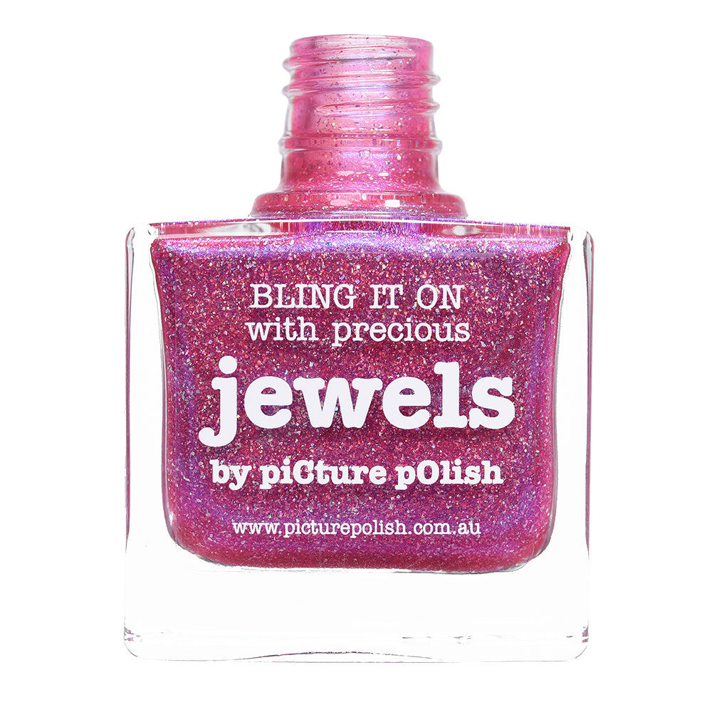 Picture Polish Jewels fuchsia nail polish