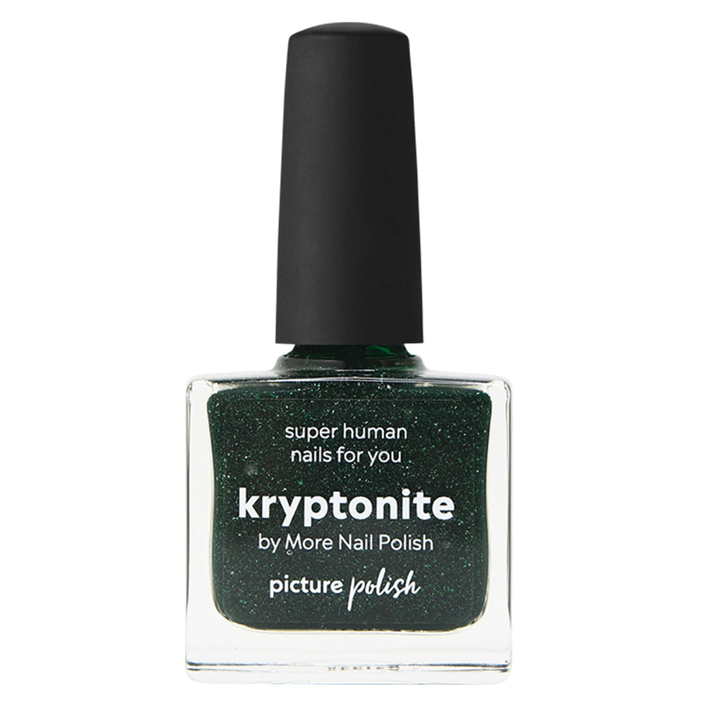 Picture Polish Kryptonite forest green holographic nail polish