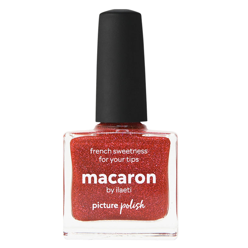 Picture Polish Macaron raspberry red jelly scatter holographic nail polish
