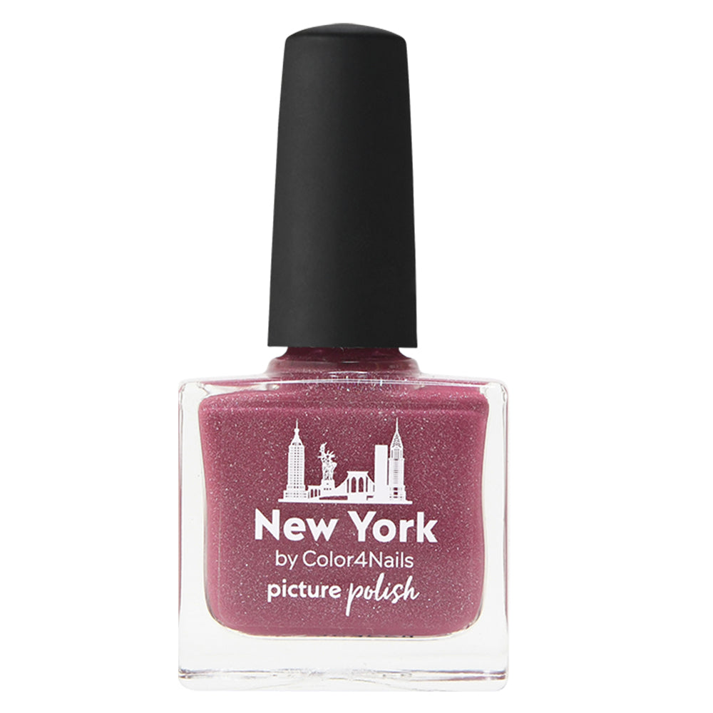 Picture Polish New York marsala pink scatter holographic nail polish