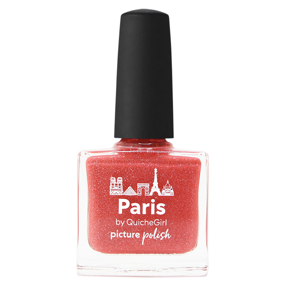 Picture Polish Paris coral scatter jelly holographic nail polish