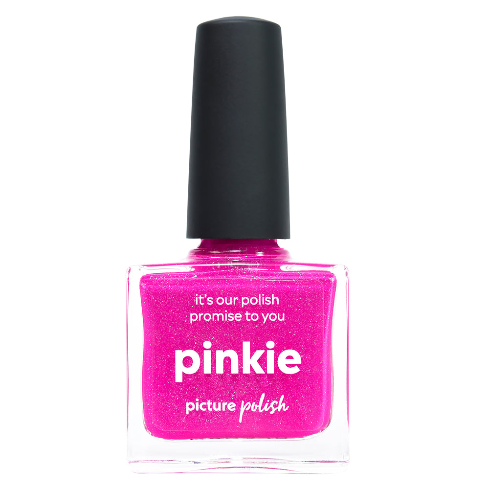 Picture Polish Pinkie hot pink holographic nail polish