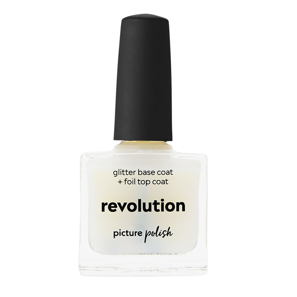 Picture Polish Revolution water based base coat and foil top coat