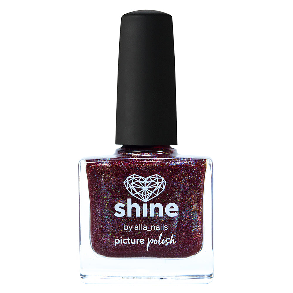 Picture Polish Shine burgundy holographic nail polish