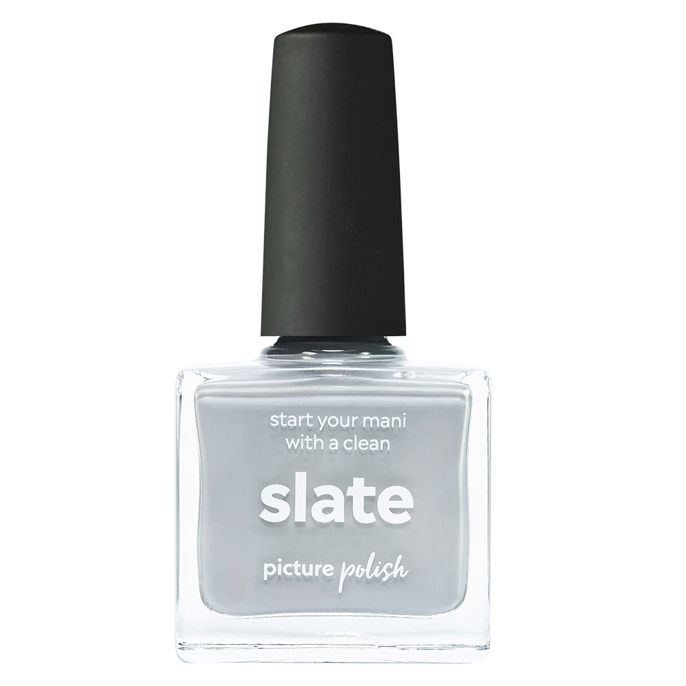 Picture Polish Slate light grey creme nail polish